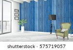 modern bright interior . 3d... | Shutterstock . vector #575719057