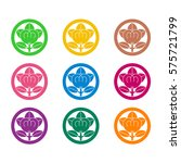 japanese family crests.  | Shutterstock .eps vector #575721799