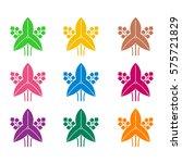 japanese family crests.  | Shutterstock .eps vector #575721829
