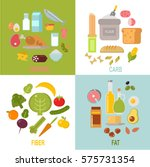 healthy nutrition  proteins... | Shutterstock .eps vector #575731354