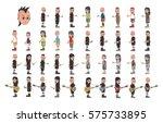 young man cartoon character set | Shutterstock . vector #575733895