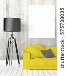 modern bright interior with...   Shutterstock . vector #575738035