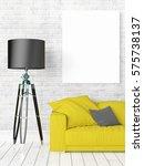 modern bright interior with... | Shutterstock . vector #575738137