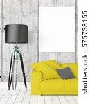 modern bright interior with...   Shutterstock . vector #575738155
