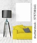 modern bright interior with...   Shutterstock . vector #575738161
