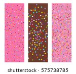 three horizontal seamless flat... | Shutterstock .eps vector #575738785