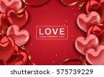 valentine's day template ...   Shutterstock . vector #575739229
