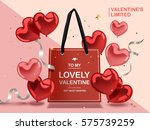 valentine's day concept  red...   Shutterstock . vector #575739259