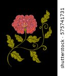 embroidery. embroidered design...   Shutterstock .eps vector #575741731