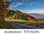Nice Countryside In Autumn Nea...