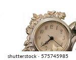 Golden Antique Clock Against...