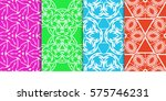 set of geometric seamless... | Shutterstock .eps vector #575746231