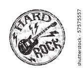 black grunge rubber stamp with...   Shutterstock .eps vector #57575557