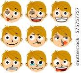 boy facial expressions vector... | Shutterstock .eps vector #575757727
