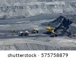 open pit mine  digging for... | Shutterstock . vector #575758879