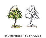 tree sketching for landscape... | Shutterstock . vector #575773285