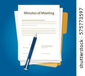minutes of meeting with... | Shutterstock .eps vector #575773597