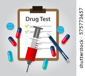 drug test medical document... | Shutterstock .eps vector #575773657