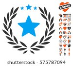 proud emblem pictograph with... | Shutterstock .eps vector #575787094