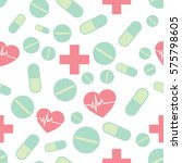 medical vector pattern for your ... | Shutterstock .eps vector #575798605