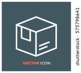 box line vector icon | Shutterstock .eps vector #575798641