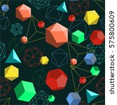 platonic solids shapes and... | Shutterstock .eps vector #575800609