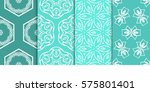 set of decorative floral... | Shutterstock .eps vector #575801401