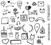 cute doodle drawing vector set... | Shutterstock .eps vector #575803507