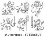 vector set of six images of... | Shutterstock .eps vector #575806579