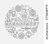project management round... | Shutterstock .eps vector #575808979