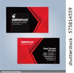 red and black modern business... | Shutterstock .eps vector #575814559