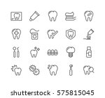 simple set of dentist related... | Shutterstock .eps vector #575815045