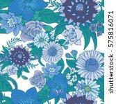 vector seamless floral pattern... | Shutterstock .eps vector #575816071