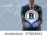 virtual currency concept ... | Shutterstock . vector #575819641