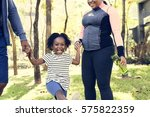exercise activity family... | Shutterstock . vector #575822359
