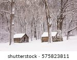 Winter Scene  Log Cabins At...