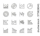 graph and chart icons in thin... | Shutterstock .eps vector #575828041