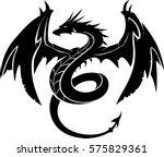 black dragon illustration | Shutterstock .eps vector #575829361