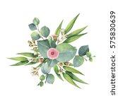 watercolor hand painted bouquet ...   Shutterstock . vector #575830639