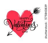 happy valentine's day vector... | Shutterstock .eps vector #575843839