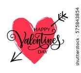 happy valentine's day vector... | Shutterstock .eps vector #575843854