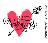 happy valentine's day vector...   Shutterstock .eps vector #575843869