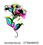 drawing vector graphics with... | Shutterstock .eps vector #575848405