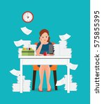 stress situation on work ... | Shutterstock .eps vector #575855395
