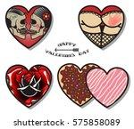 vector happy valentine's day... | Shutterstock .eps vector #575858089