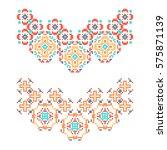 set of 2 necklaces in american... | Shutterstock .eps vector #575871139