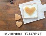 heart shape bakery for... | Shutterstock . vector #575875417
