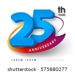 anniversary emblems 25... | Shutterstock .eps vector #575880277