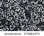 seamless lace pattern with... | Shutterstock .eps vector #575881474