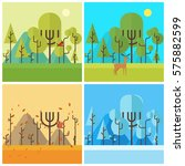 background of every seasons  ... | Shutterstock .eps vector #575882599
